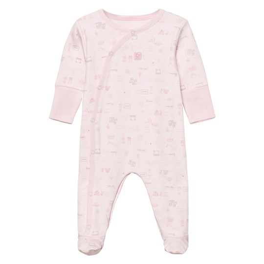 Absorba Footed Baby Body Pink All Over Print 30