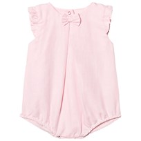 Absorba Pink Cotton-Linen Frill Sleeve Bubble Baby Body 30