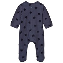 Absorba Navy Flocked Star Baby Body 04