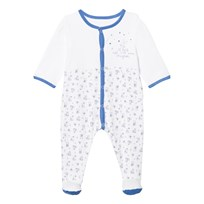 Absorba Footed Baby Body White and Blue ABC Print 44