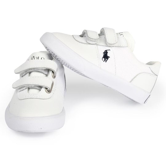 Ralph Lauren Xavier Ez White Leather/Canvas White