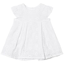 Absorba White Broderie Anglaise Dress 01