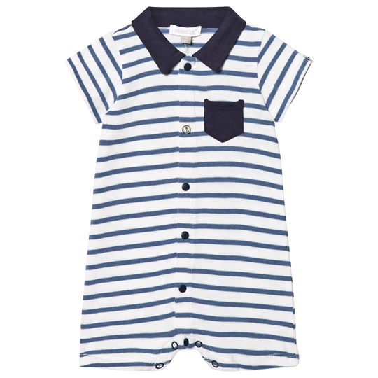 5f30d80044cf Absorba - Blue and White Stripe Jersey Polo Romper - Babyshop.com