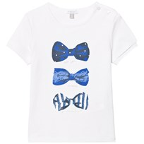 Absorba White with Blue Bow Print Tee 01