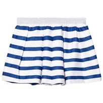 Absorba Blue Glitter and White Stripe Skirt 45