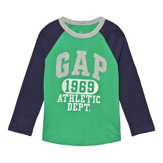 GAP Logo Graphic Baseball Tee Parrot Green PARROT GREEN 385