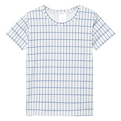 Tinycottons Grid Tee Off White/Blue
