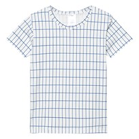 Tinycottons Grid Tee Off White/Blue White