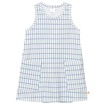Tinycottons Grid Tank Dress Off White/Blue White