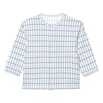 Tinycottons Grid Cardigan Off White/Blue White
