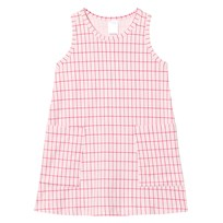 Tinycottons Grid Tank Dress Pale Pink/Red Pink
