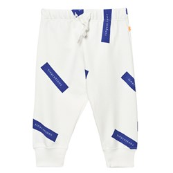 Tinycottons Tiny Logo Sweat Pants Off White/Blue