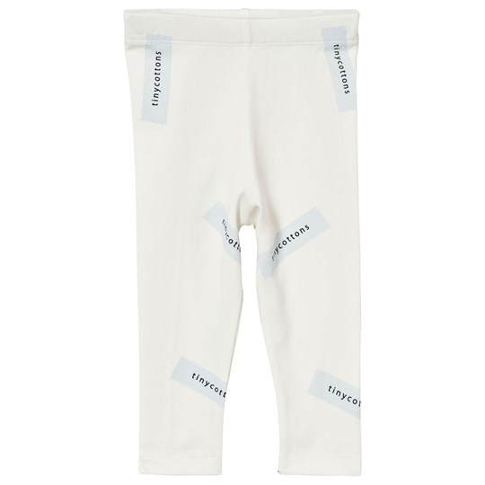 Tinycottons Tiny Logo Pants Off White/Light Blue White