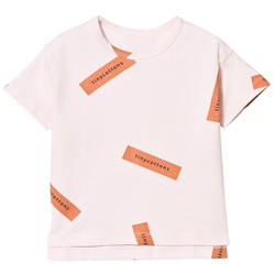 Tinycottons Tiny Logo Oversized Tee Pale Pink/Dark Peach