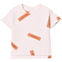 Tinycottons Tiny Logo Oversized T-shirt Pale Pink/Dark Peach Pink