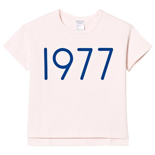 Tinycottons 1977 Oversized Tee Pale Pink/Blue Pink