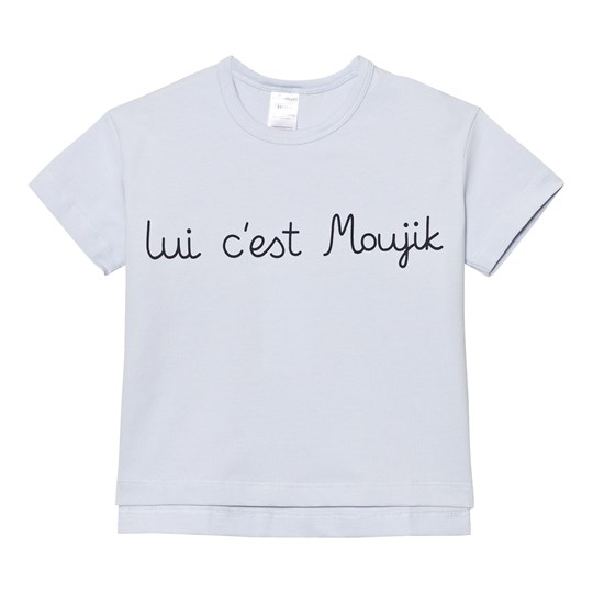 Tinycottons Moujik Text Oversized Gr Tee Light Blue/Dark Navy Blue