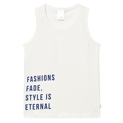 Tinycottons Style Is Eternal Gr Tank Top Off White/Blue
