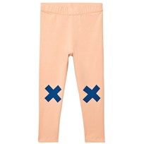 Tinycottons Logo Pants Nude/Blue бежевый