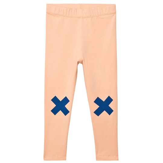 Tinycottons Logo Pants Nude/Blue Beige