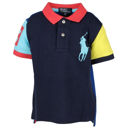 Ralph Lauren Neon Classic Polo French Navy Blue