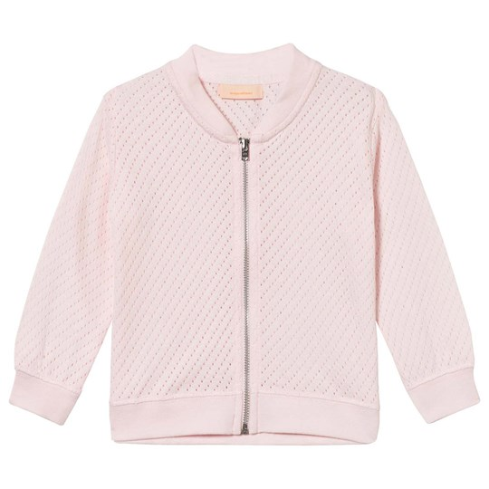 Tinycottons Holes Bomber Jacket Pale Pink Pink