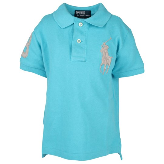 Ralph Lauren SS Neon Classic Polo Tron Blue Turquoise