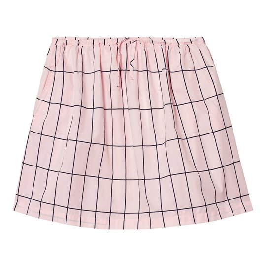 Tinycottons Big Grid Skirt Pale Pink/Dark Navy Pink