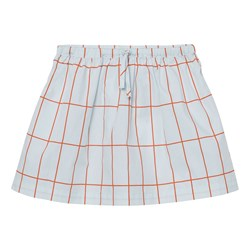 Tinycottons Big Grid Skirt Light Blue/Red
