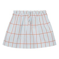 Tinycottons Big Grid Skirt Light Blue/Red Blue