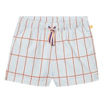 Tinycottons Big Grid Shorts Light Blue/Red Blue