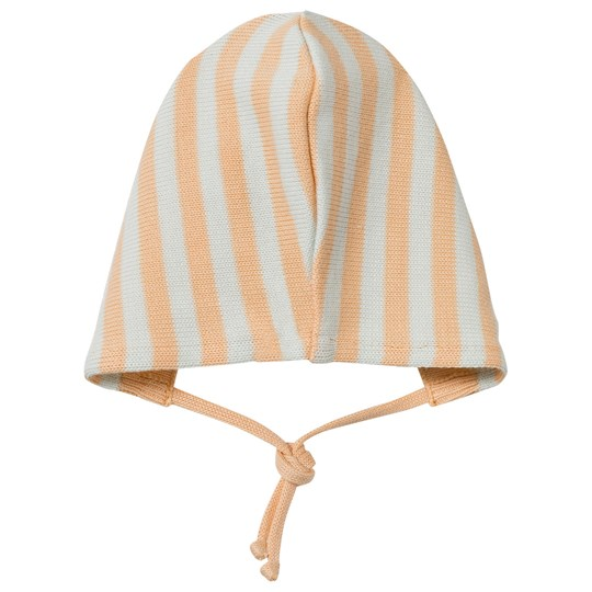 Tinycottons Stripes Baby Hat Knit Light Blue/nude Blue