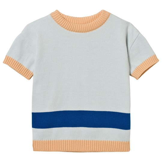 Tinycottons Line Ss Sweater Knit Light Blue Blue