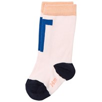 Tinycottons T High Socks Pale Pink/Blue Pink