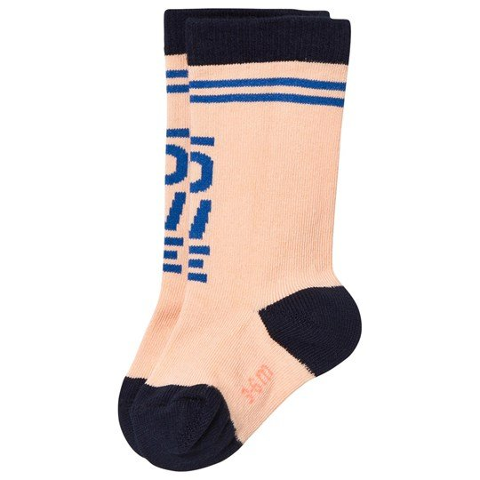 Tinycottons Love High Socks Nude/Blue Beige