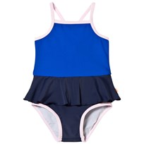 Tinycottons Frill Swimsuit Dark Navy Blue