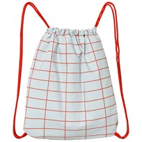 Tinycottons Grid Towel-Bag Light Blue/Red Blue