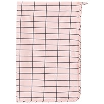 Tinycottons Grid Towel Pale Pink/Dark Navy Pink