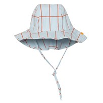 Tinycottons Grid Sun Hat Light Blue/Red Blue