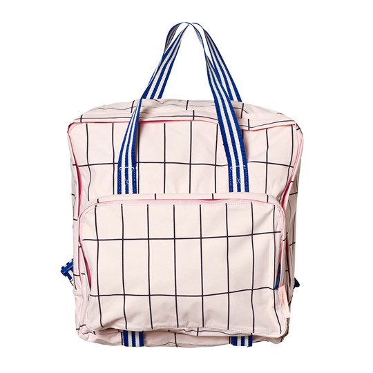 Tinycottons Grid Backpack Pale Pink/Dark Navy Pink