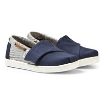 Toms Navy Canvas & Stripe Tiny TOMS Biminis NAVY CANVAS/STRIPES