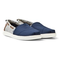 Toms Navy Canvas & Stripe Youth Biminis NAVY CANVAS/STRIPES
