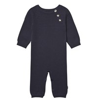 Wheat Sailor Knit Onesie Navy Navy