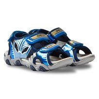 Geox Jr Sandal Strike Light Up Navy & Light Blue C0693