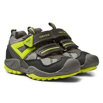 Geox Jr New Savage Sneakers Grey & Lime C0666