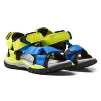 Geox Jr Borealis Water Safe Sandals Lime & Light Blue C3317
