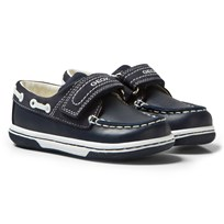 Geox Baby Flick Shoes Navy & White C4211