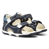 Geox Navy Infants Tapuz Velcro Sandals C4211