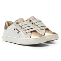 Geox Jr Kiwi Sneakers White & Gold C0232
