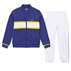 Lacoste Tracksuit Blue with White Stripe